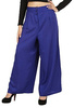 notyet byus women's ink blue rayon palazzo pant
