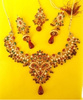 designer bridal set with jhumkis and mangtika
