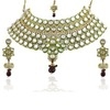 kriaa vivaah exclusive ethnic design white kundan necklace set with maang tikka