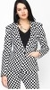 Faballey Black Printed Fitted Blazer