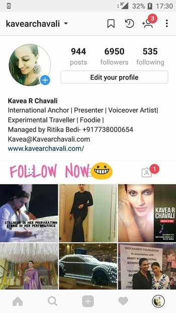 My colourful overactive Instagram profile #instagram #profile #anchor #emcee #tvpresenter #followme
