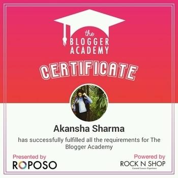finally #roposostory #roposoblogger #certifiedblogger #roposogal