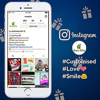https://www.instagram.com/sreegifts/#sreegifts #gifts #valentinesday #newyear #giftsforgirls #giftsforhim #giftsforyou #giftideas #handmadegifts #greetings #newyear2020 #valentinegifts #lovegifts #love #jewelry #products #digitalmarketing #navyblue #onlineshopping #onlinegifts #instagramgifts #customisedgifts