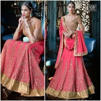 Buy Now @ https://goo.gl/xRYKAu  Classical Georgette Hot Pink A Line Lehenga Choli  Fabric-Georgette  Product No 👉VJV-NAKK5054  @ www.vjvfashions.com  #chaniyacholi #ghagracholi #indianwear #indianwedding #fashion #fashions #trends #cultures #india #womenwear #weddingwear #ethnics #clothes #clothing #indian #beautiful #lehengasaree #lehenga #indiansaree #vjvfashions #bridalwear #bridal #indiandesigner #style #stylish #bollywood #kollywood #celebrity #outfits #vjvfashions #lehengas