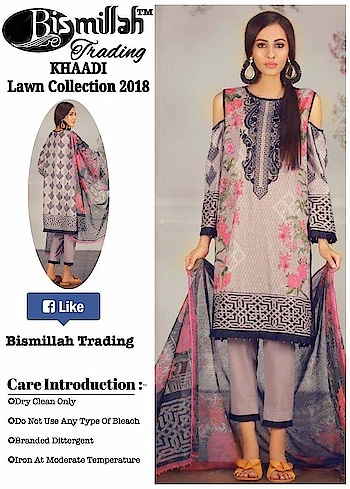 "MAYSA COLLECTIONS: *🌹#BISMILLAH TRADING vol.4*  *🎊Beautiful Collection Ever In Master Replica🎊*  *🌹#BAROQUE* *🌹#RANG #RASIYA* *🌹#KHAADI* *🌹#GOHAR* *🌹#CHARIZMA*  *""Paki Master Replica  *❣#Fabulous Colours #Combinations*  *💖Best Quality Lawn Fabric and Embroidered Patches are Given as Same as Original*  👉Embroidered Lawn Top with Embroidered Patches  👉Lawn Bottom   👉Printed Chiffon Dupatta  *💍#Pearls use as ur wish*  (10 pcs set)  *✅Singles.1850/-* *✅Set Rate 1600*10 pcz   *👉Sets and Singles Available  *👇Tomorrow Delivery انشاءاللہ* whatsapp on +918879845751. +919029093762  Whatsapp maysa collections directly from here.. https://api.whatsapp.com/send?phone=918879845751  Also Join our below networks free for getting latest updates.  Hello, thank you for your valuable message to MAYSA COLLECTIONS.  Will get back to you soon..   FACEBOOK  https://www.facebook.com/maysacollections  YOU TUBE  https://www.youtube.com/channel/UCWAOvQymcY3bTdp_0jFiuzA?sub_confirmation=1  TELEGRAM https://t.me/maysacollections  INSTAGRAM https://www.instagram.com/maysacollection6125  LINKEDIN https://www.linkedin.com/in/maysacollections  ROPOSO https://www.roposo.com/profile/maysacollection/18166642-9884-481a-ad55-8efb727cb4c"