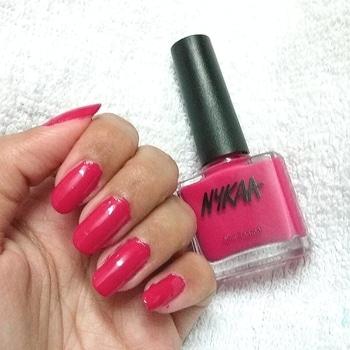 @mynykaa nail enamel is hot pink poppy,  beautiful hot pink shade  #nailpolishfreak #nails #nailart #nailpolish #hotpink #instalove #instamakeup #followme #picoftheday #tagforlikes #tagforfollow #tagforlikes #followme