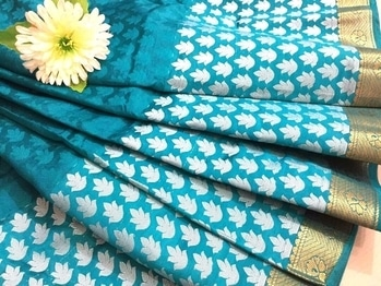 Tussar silk sarees. gorgeous and fashionable. unique design. Rs 1300.  #stylishwear #partyready #summer cool#elegant.