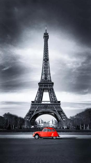 #paris #black-and-white #affiletower