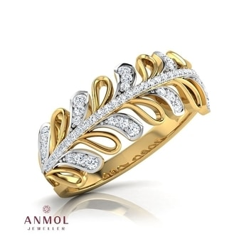 The petal-over around gold band ring #anmol_jeweller   #gold #diamond #artwork #ring #lavish #royal #cute #art #latest #fashion #beautiful #band #18k #jewelryblogger #jotd #jewelry #wearable   For queries call or watsapp:991401704.  To place order mail us at:Anmol.jeweller01@gmail.com