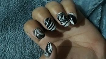 water#nail#art #blacknwhite