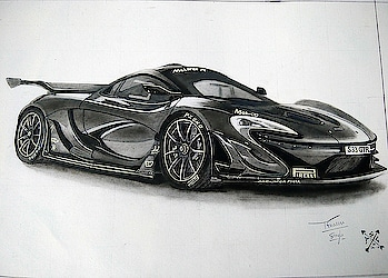 McLaren P1 GTR 🌟 AFTER A LOT OF HARD WORK AND PATIENCE. #sketch #art #artist #mclarenp1 #gtr #car #hypercar #exotic #supercars #vintage #collection #pencil #sketchbook #blackandwhite #mclaren #carlover #follow #inspire #creation #imagination #charcoal #sketchoftheday #picoftheday #followforfollow #likeforlike