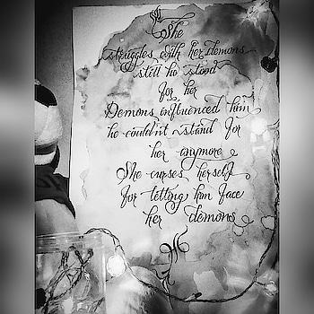 #mywork #calligraphy #love #comboofartandwords