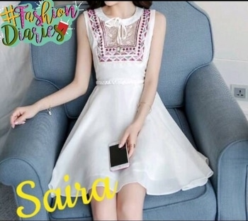 🎀 Beautiful cotton Embroidered Work  Dress 🎀Fabric - Cotton👌🏻Embroidery work Size-Upto 34(Free) Length - 33 Price -. 975+Ship GUD Quality👍🏻 Ready For Dispatch Dm for orders📥 @rawkingrubss32d560d7 #onepiecedress #beautifuldress #bestoutfit #embroidered #embroiderywork #designer #fashiondiaries #fashionblogger #stylish #styleblogger #trending #trendsetter #trendingnow #partywear #pictureoftheday #fashion #happiness #blessed #soroposo #roposolove #lovemywork #ordernow🤗 #shop #orderonline #dmfororders📥