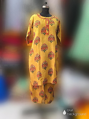 Rate:999/-  Designer Mustard Colour Printed Kurti and Plazzo combo  This versatile piece is ideal to beat summer heat ! Can dress up with heavy Duppta n golden sandels to complete the party look .  Fabric : Rayon  Length:               Kurti :46 +               Plazzo: 39 Size : 38-50 ( M - 5XL)