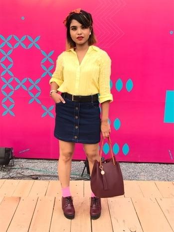 Outfit of the day 🎀 Amazon India Fashion Week, Day2 ❤️ @amazonfashionin @thefdci . . #amazonfashionweek2017 #fdci #springsummer18 #Delhievent #strayeddivine #fashioninfluencer #vintagefashion #bloggerlifestyle #indianyoutuber #delhiyoutuber #passionforfashion ❤️