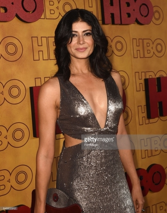 #69th #Emmy #HBO #Aferparty #redcarpet Outfit by #halstonheritage jewelry by #HeathLondon #69themmyawards