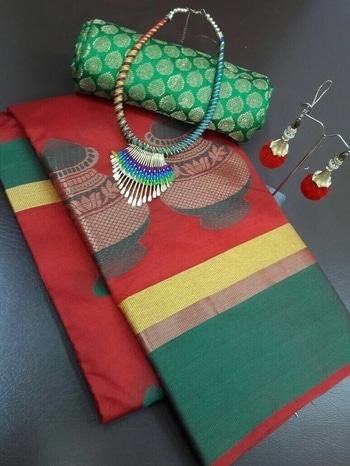 Traditional Set 🎀Of Sarees 👑  #TUSSER SAREE DESIGNED WITH SELFWEVING   #STYLE~TRADITIONAL  WITH #JEWLLERY #NACKLES N #BLOUSE JUMKA  #RATE(₹) 999  For more deatils cal/whatsapp on 9727133016