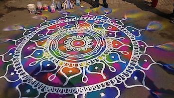 #rangoli #colourful rangoli