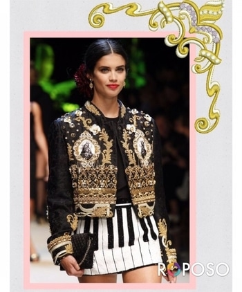 One of my favourite trend this year is embroidered.  The embroidered bags, shoes, jackets, dressses. This year this artful trend is making a fierce comeback! This jacket is to die for.  Dolce gabbana has been doing intricate work on jacket. There were doing embroidery before it became a trend . #embroidered#trendy#hashtaggameon