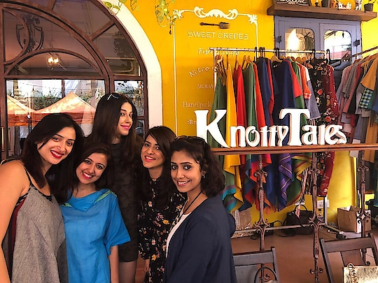 """I have never celebrated woman's day and yesterday it felt so good to celebrate it with so many women in my restaurant for the flea market """" belle flea"""" organized by knotty tales . Too much fun @1bhk"""