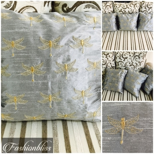 Rawsilk coverlets with trendy fly embroidery!                 For further details contact 9869678792 or email us at fashionbliss31@gmail.com                                                  https://m.facebook.com/fashionbliss31/