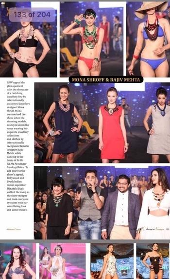 #abraxus #magazine #writeup  #monashroffjewellery #monashroff #indiaintimatefashionweek2017