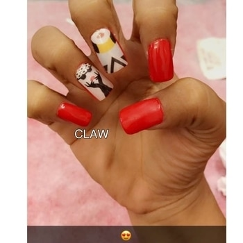 #claw #themenails #rednails #nailartaddicts#nailfashion#fashionblogger#nailtrends#nailart#delhitrend#clientdiaries#happyclient #happyus #getclawed💅💅