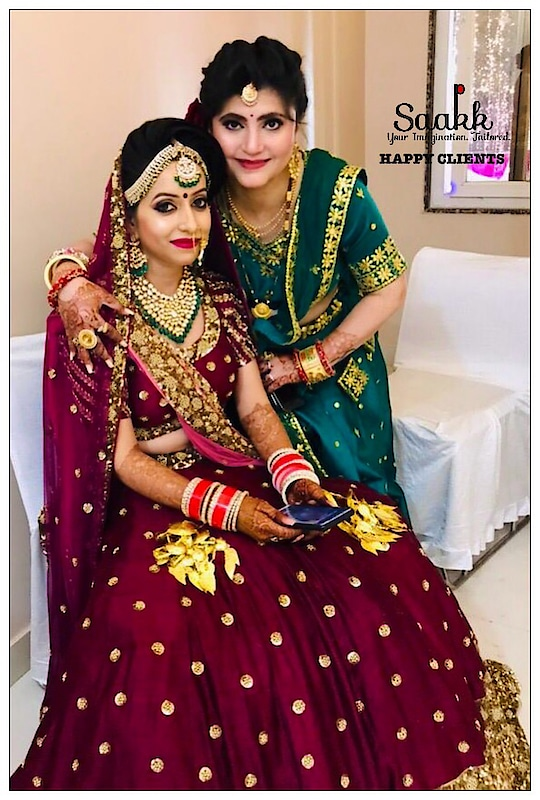 Our mission is to serve our clients in the most ethical, efficient and cost- effective way possible. The best reward is a Happy Client. #happyclient #happyus #saakkbride #getyouroutfitsorted #bookyoursnow #ordernow #bridallehenga #pretoporte #saakk #saakkbysakshi #saakkyourimaginationtailored