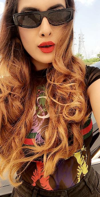 It's Okay To Borrow Some Love For Yourself From The Love You Have Preserved For Someone Else ... ♥️♥️♥️ : #justathought #morningthoughts #morningmood #goodmorning #closeup #closeupphotography #morningselfie #riseandshine #boldandbeautiful #beautifulhair #redlips #sexy #lit #blackshades #shoot #shootdiaries #bts #love #nehamalik #model #actor #diva #blogger #instagood #instafollow