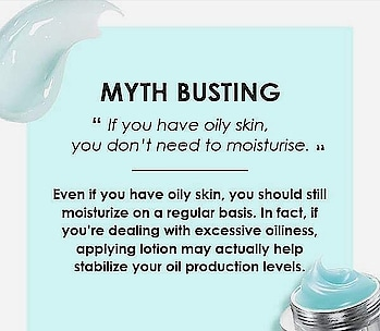 Moisturise even if you have oily skin! #moisturizer #moisturiser #moisturizing #moisturising  #mythbusting