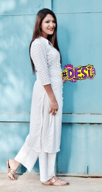 Let's be summer ready! Styled this white chikan kurti with chikan white palazzo! Best to beat the summer heat! #summerkurti#summer#white#summervibes#ethnic ##desi