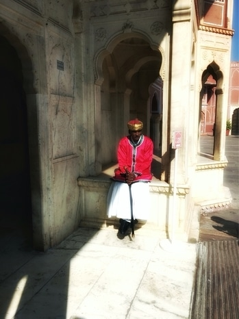 All time favorite image from my Jaipur travel diary. This is a guard at Jaipur City Palace. He politely agreed to sit for my camera.#travel #jaipur #citypalace #incredibleindia #travelblogger #travelphotography #explore #exploretheworld #wanderlust #potd #beautifulmoments
