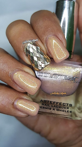 ColorBar - Arteffects Nail Lacquer - Goddess - CANN027 - This one is Glitter Effects - 😍 .  #arteffectnails #colorbararteffects #colorbargoddess #colorbarindia #goddess #goddesscolorbar #colorbararteffectsnaillacquer #colorbarnailpolish #colorbarnaillacquer . @lovecolorbar @colorbar  . ☄️ It is available in a wide variety including Sand Effects, Glitter Effects and Deep Gen Toned Metallic Textures ☄️ Perfect for Nail Art ☄️ Love the Brush specially the round cut and fan shape makes application super easy and convenient ☄️ Non-Yellowing ☄️ Chip Resistant ☄️ Non- Carcinogenic ☄️ Won't transfer on the Nail bed ☄️ Lasts for a week  Most of all ... ☄️ 100% Cruelty Free ☄️ #lovecolorbar #colorbar #colorbarnails  #glitternails #glitternailpolish #glitternailsdesign #lovecolorbarindia #NailingMyNails #nailsoftheday #nailsofinstagram #nailpolishswatch #nailpolishblog #nailpolishblogger #polishswatch #nailsonfleek #colorbarcosmetics #colorbarindia #gellikepolish #colorbarnailpolish #colorbarnaillacquer #nailsonfleek #nailie #nailstagram #nailiesbyarushi 💚