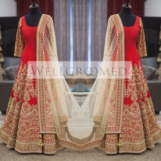 Get this #RedBeauty #anarkaliSuit Just for ₹@2850/- INR Only For Buy DM or WhatsApp us : +91-8866570406