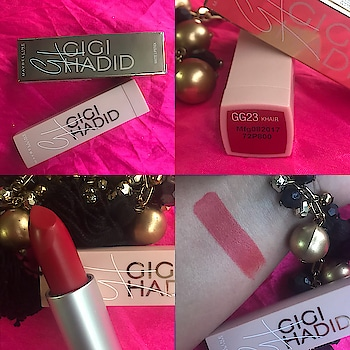 Hello Peeps! Fun, Playful, Exclusive, Exciting, Trendsetting. Words that describe the Supermodel Gigi Hadid and her Limited Edition Collection. . Today I'm going to review and swatch one of the most talked about lipstick by Gigi Hadid x Maybelline West Coast Collection - Khair! . The name is KHAIR is Bella Hadid's middle name! (Gigi's Sister) . Khair is one sexy and classic red shade with deep orange undertones which shows up when swiped lightly otherwise it mainly looks a hot red shade! It can be worn during the day and even during the evenings. It suit ls almost all the Indian skin tones so a must have if you love RED. . Packaging: The lipstick is in a light baby pink bullet with a dull silver holder. The cap has Gigi's initials GH written. The outer cardboard packaging is golden in color with all the details on it. Overall, it's an eye catching package! Totally love it being a Graphic Designer. . Texture: Khair is very light and easy to carry. Being a matte shade, it gives a natural sheen in flash light so not completely matte or drying. It doesn't bleed so really travel friendly and usable! . Pigmentation: Khair easily stays for upto 6 hours (that's the time I wore it for!) It does fade away when you eat, but the tint strongly remains. . Price: It's for ₹ 550/- for 3.5 g . Shelf Life: 3 years from the date of manufacture. . My Views: Red has always been my favourite shade (I already have around 4-5 shades of Red)! If you're a lover of Red too, I would strongly recommend you to invest in Khair. . #MaybellineNewYorkXGigiHadid #GigiHadid #GigiXMaybelline #GigiHadidMaybelline #Khair #BellaHadid #LipstickLover #Nykaa #Maybelline #TJP #TheJessicaPancholi #SuratBlogger #VadodaraBlogger #PlixxoInfluencer #fabebg #Plixxo #RedLipstick #KhairSwatch #KhairReview #LipstickSwatch #Swatch #SuratInfluencer #VadodaraInfluencer