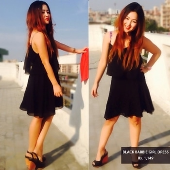 Love the way how our blogger looks stunning in black barbie girl dress!