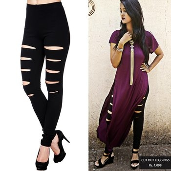 If you are craving for cutouts this season then get your hands on our cutout leggings and give your self that stylish edge just the way our blogger does!!