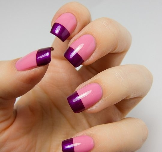 The multi-colored French mani