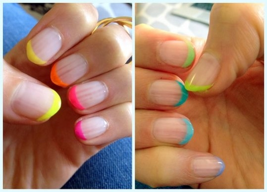 The French mani in reverse