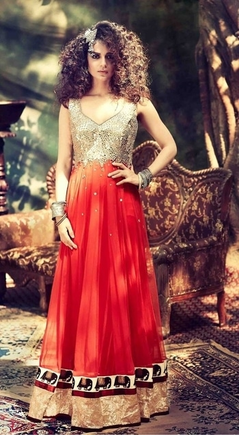 #Indo #Westerns : #Anarkali #style!!