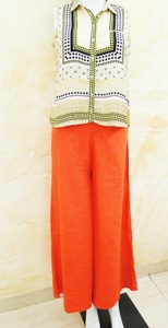 Bright Orange Khadi Palazzo #onlineshopping #womenfashion #brightcolour #lovethispiece #fashionlovers #bagdlook.com