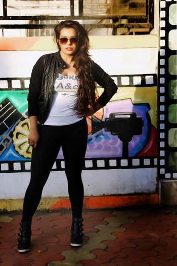 color me black#black#nike#rayban#loreal#fushiapink#plimsole#casual#jackets#mcleodganj #evening#photography #camera#hot#camera#love# forevernew#friends#veromoda#pout#fashion# forever21#loreal