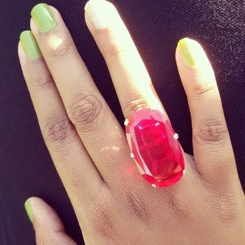 ❤ Red stone ring 💍