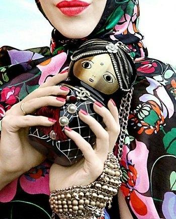 #chanel  #russian doll wristlet / purse