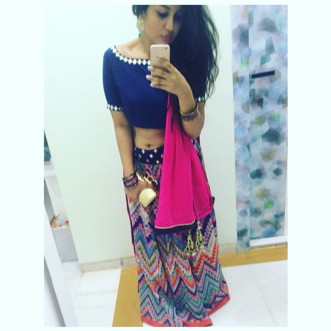 Dressing up for Navratri!