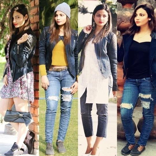 One jacket Four styles  #fashionblogger #fashionblog #styletips #trendalert #stylingways #styleblogger