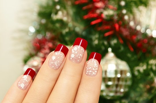 Festive Glitter With Solid Tips