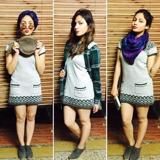 Ways to style that cute woollen dress.