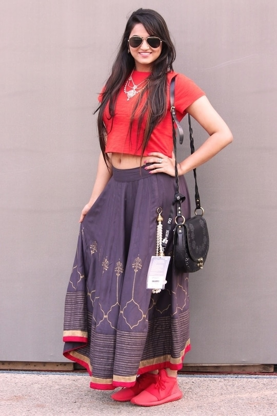 #indowestern outfit for fashion week
