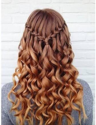 Wavy waterfall braid
